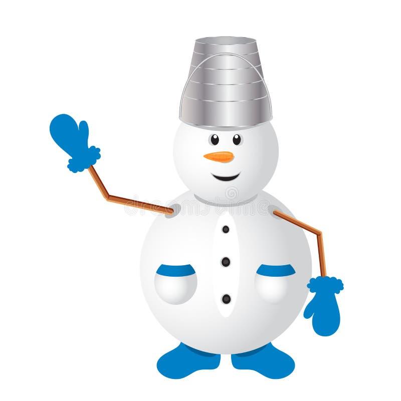 милый вектор снеговика бесплатная иллюстрация