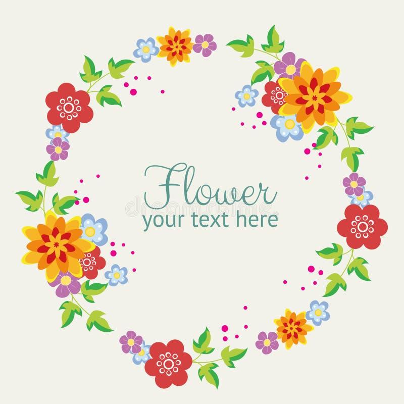 Милый венок цветка иллюстрация штока