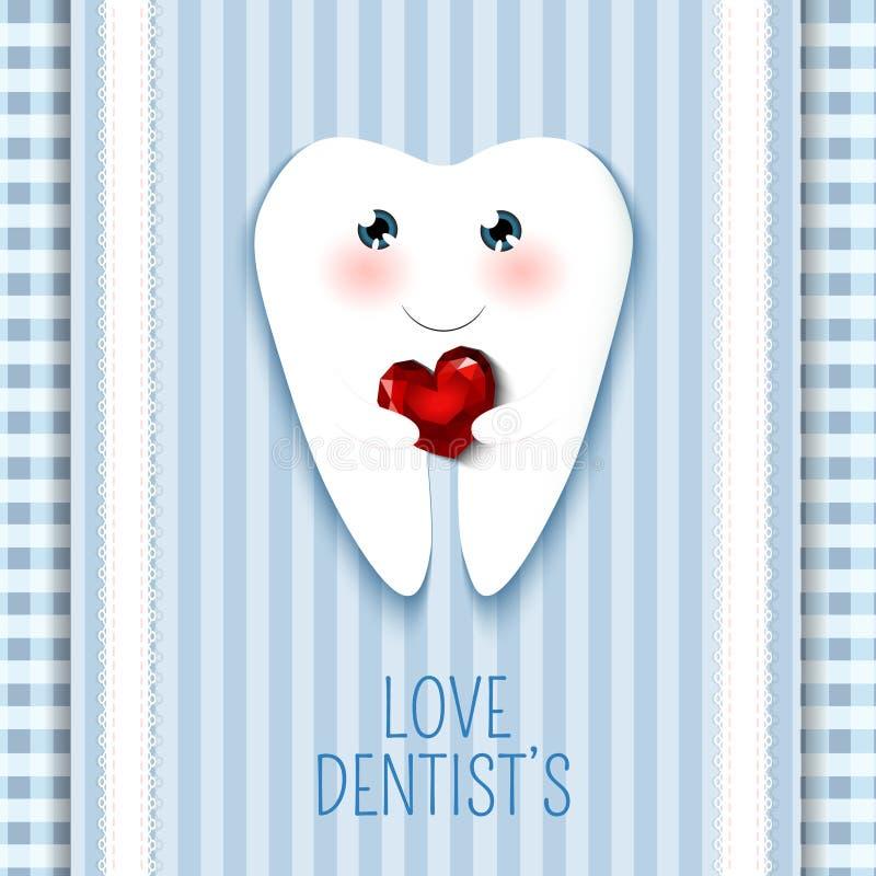 Милый день дантиста поздравительной открытки счастливый иллюстрация штока
