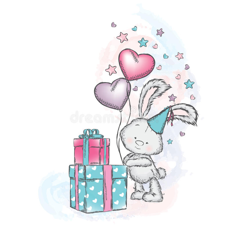 С днем рождения милые открытки слоники зайчата