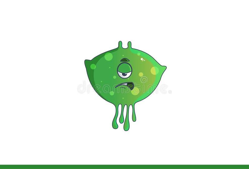Милый зеленый пробуренный изверг бесплатная иллюстрация