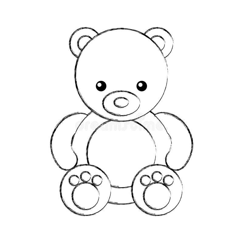 Милый значок игрушечного медведя иллюстрация вектора