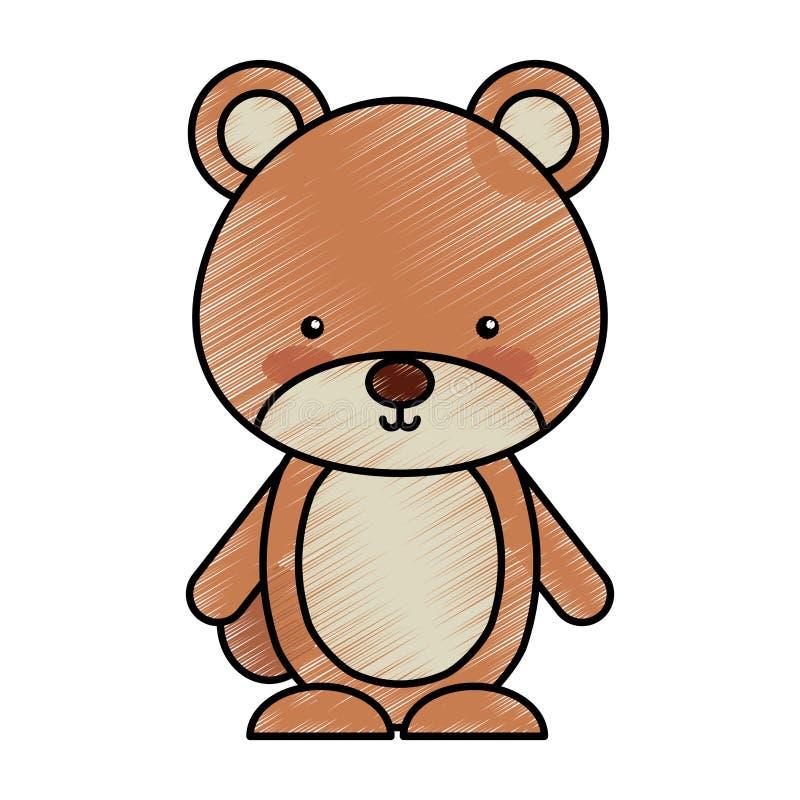 Милый значок полесья медведя иллюстрация штока