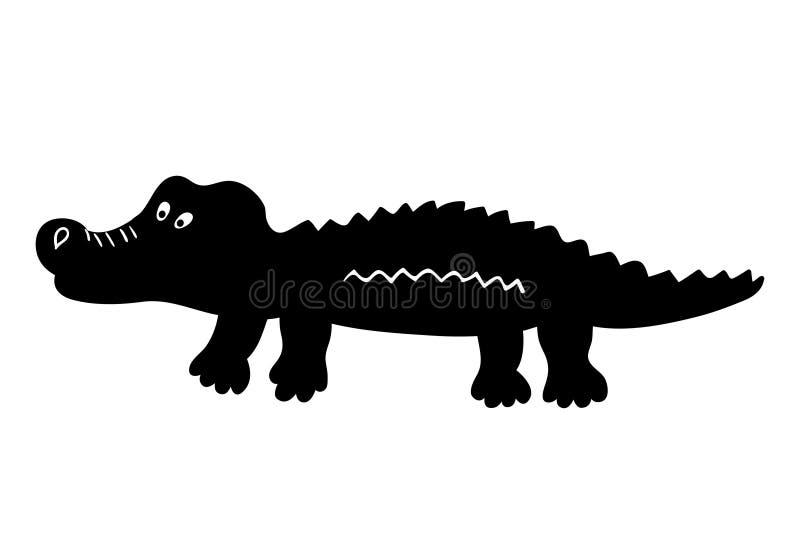Милый значок шаржа крокодила бесплатная иллюстрация