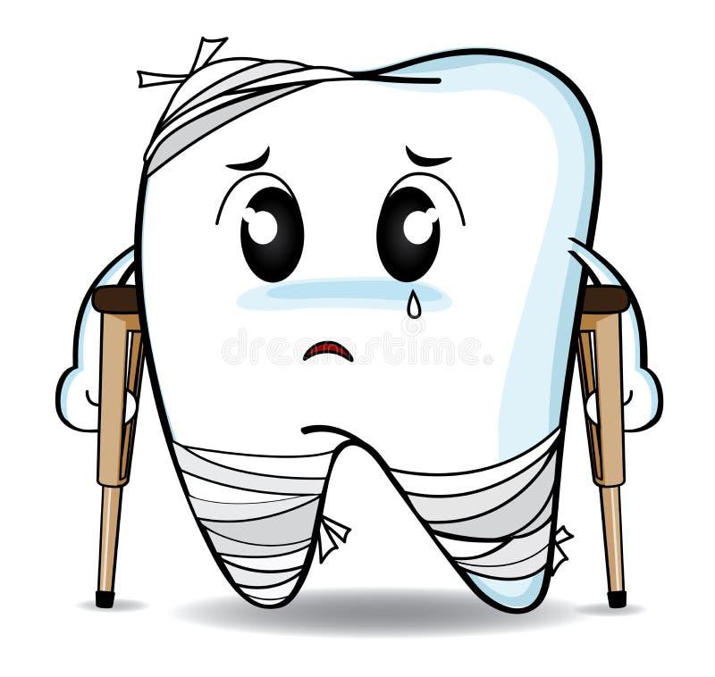 Милый зуб или ушиб спада шаржа бесплатная иллюстрация