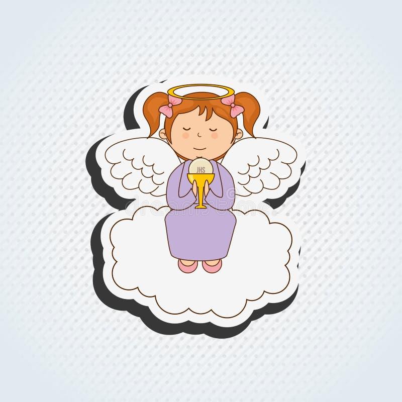 милый дизайн ангела бесплатная иллюстрация