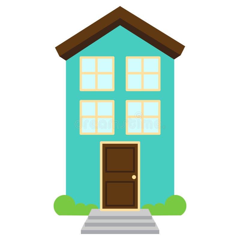 Милый и красочный изолированный дом вектора иллюстрация вектора