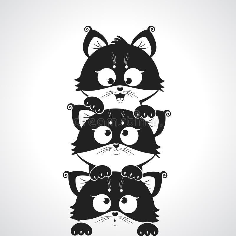 Милый котенок иллюстрация вектора