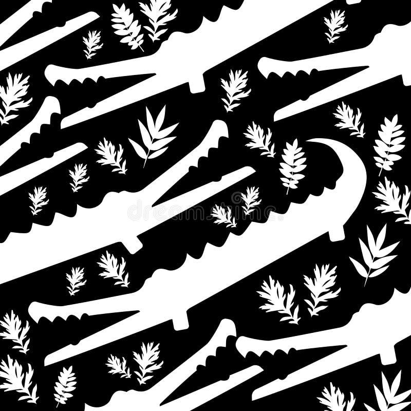 Милый крокодил шаржа в современном геометрическом плоском стиле Простая и прелестная усмехаясь иллюстрация аллигатора иллюстрация штока