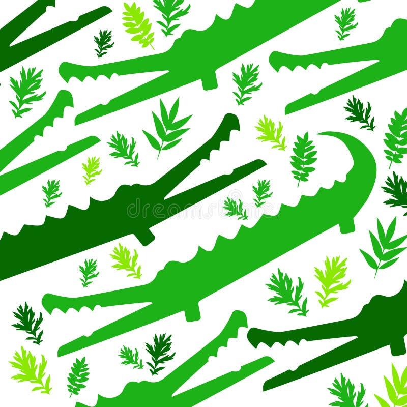Милый крокодил шаржа в современном геометрическом плоском стиле вектора иллюстрация вектора