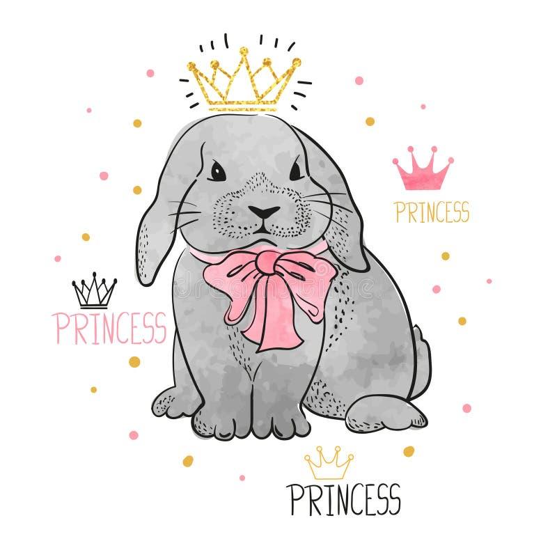 Милый маленький кролик принцессы бесплатная иллюстрация