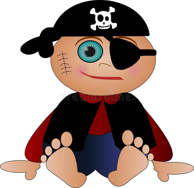 милый маленький пират стоковое изображение