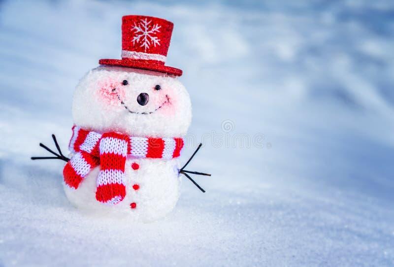 милый маленький снеговик стоковое фото