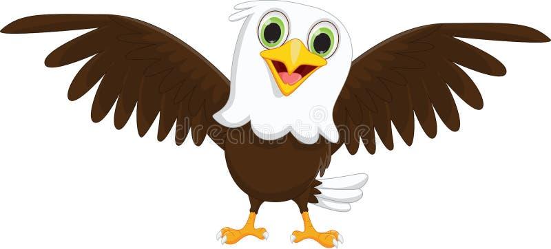Милый маленький шарж орла иллюстрация вектора