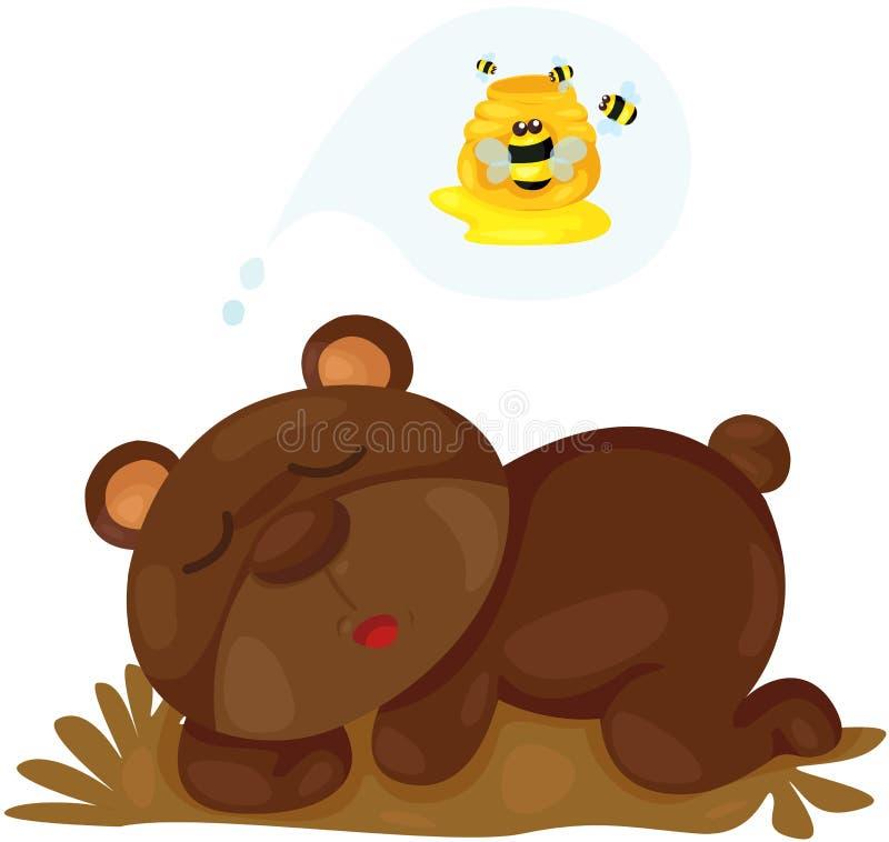 Милый мечтать медведя бесплатная иллюстрация