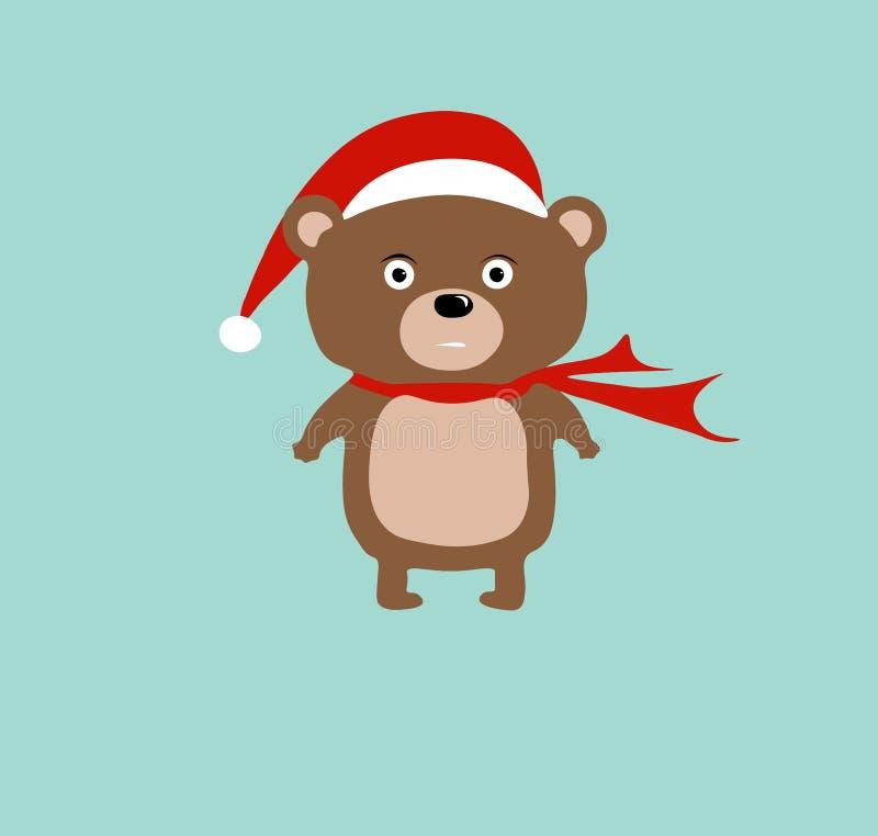 Милый медведь Санты стоковые изображения rf