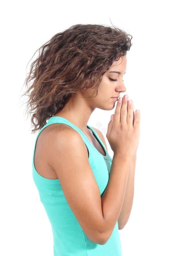 Милый молить девушки подростка стоковые фото