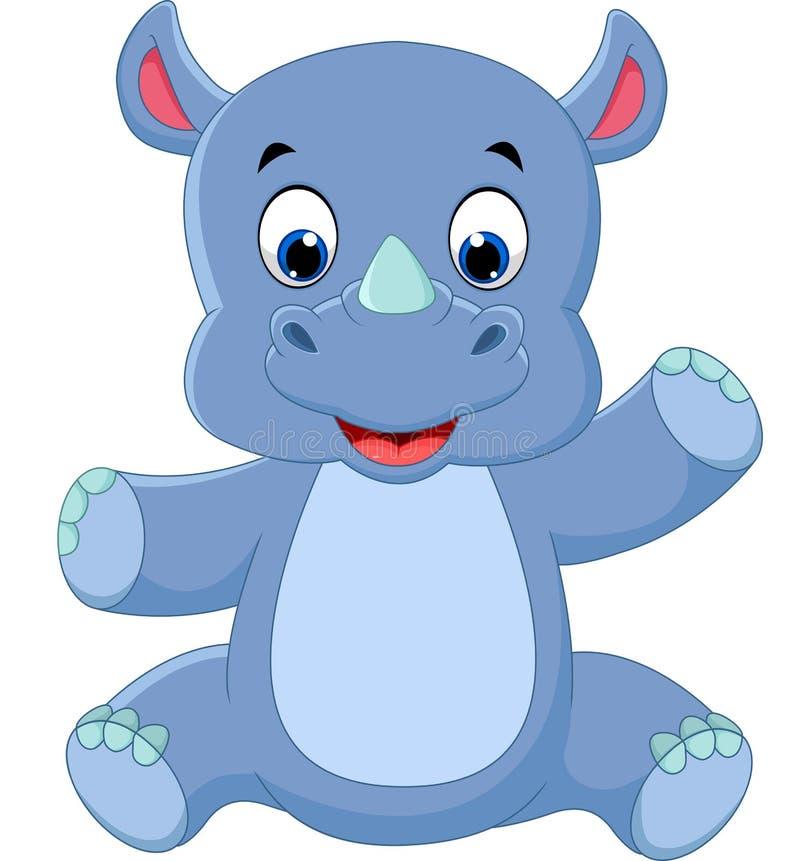 Милый носорог младенца бесплатная иллюстрация