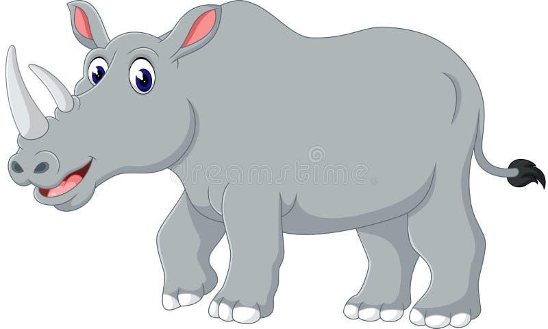 милый носорог бесплатная иллюстрация