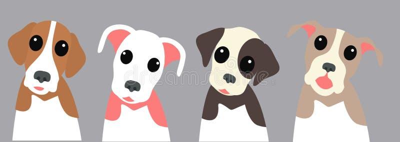 милый пакет собаки иллюстрация вектора