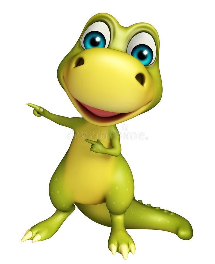 Милый персонаж из мультфильма динозавра бесплатная иллюстрация
