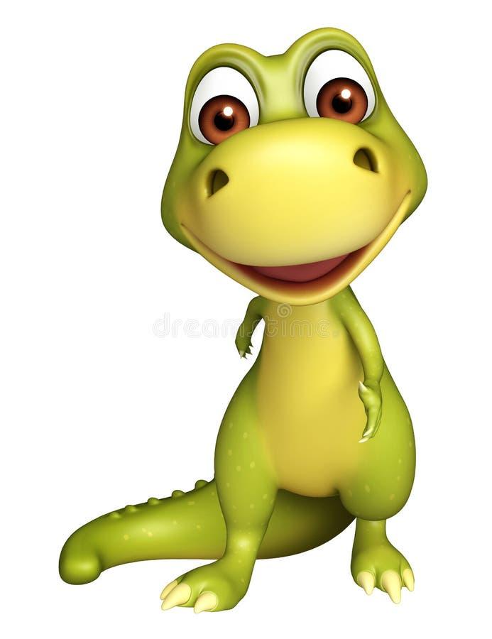 Милый персонаж из мультфильма динозавра иллюстрация штока
