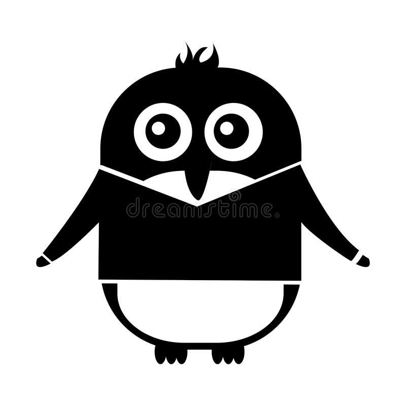 Милый пингвин с характером kawaii куртки бесплатная иллюстрация