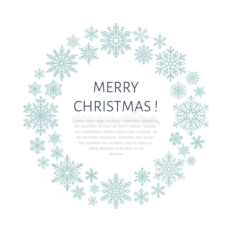 Милый плакат снежинки, знамя Приветствия сезона Плоские значки снега, снежности Славные снежинки для знамени рождества, карточки  бесплатная иллюстрация