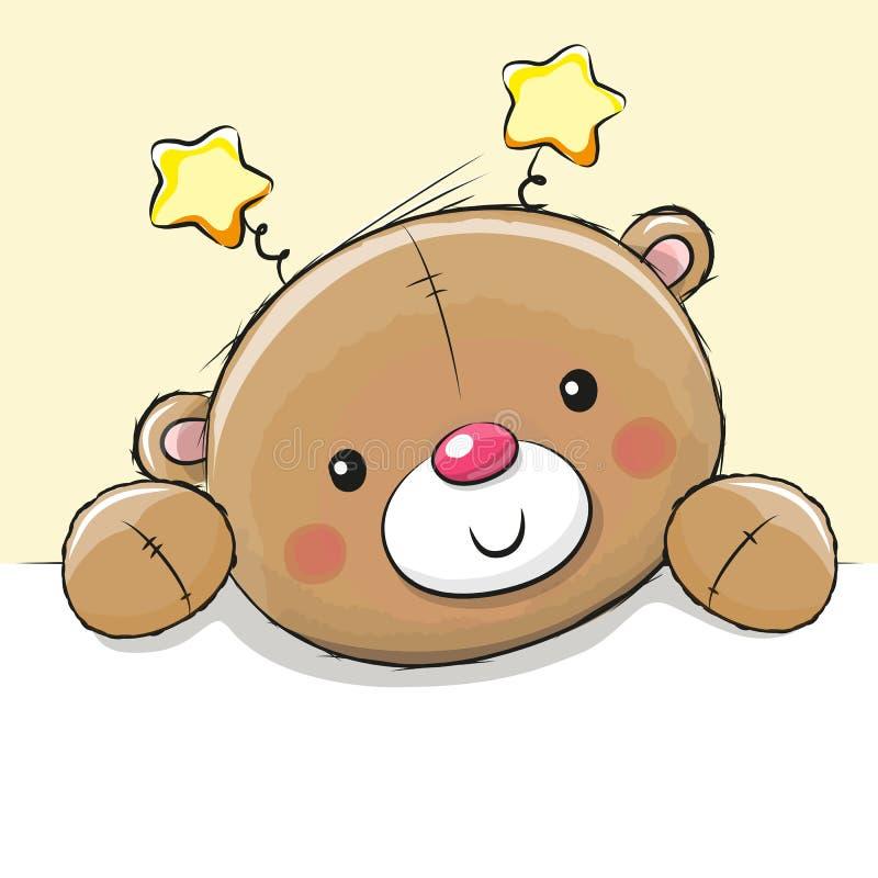 Милый плюшевый медвежонок чертежа бесплатная иллюстрация
