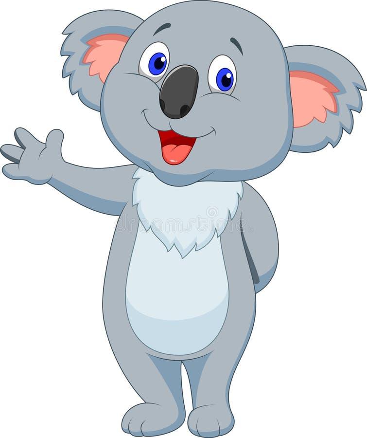 Милый развевать руки шаржа коалы иллюстрация штока