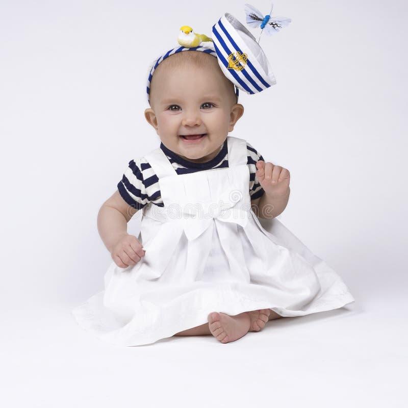 Милый ребёнок матроса стоковое фото