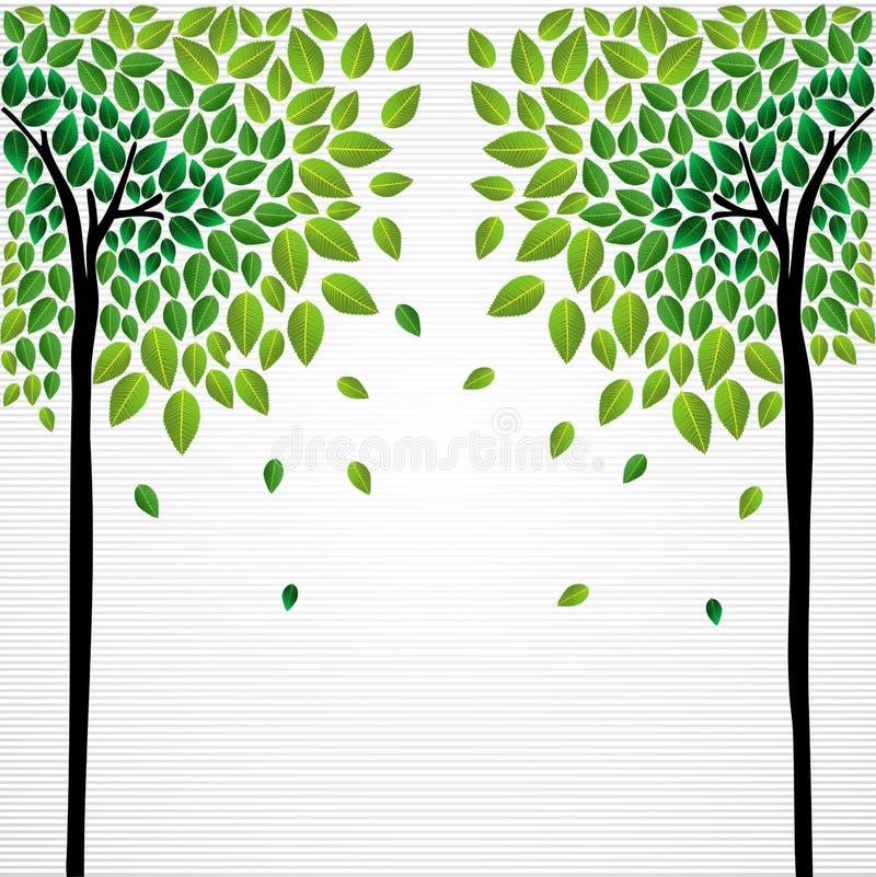 Милый рисовать деревьев принципиальной схемы иллюстрация вектора