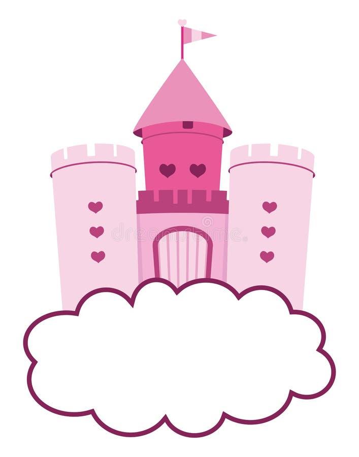 Милый розовый замок иллюстрация штока