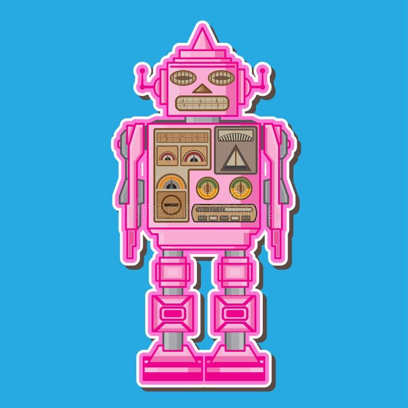 Милый розовый дизайн вектора робота стоковые фотографии rf