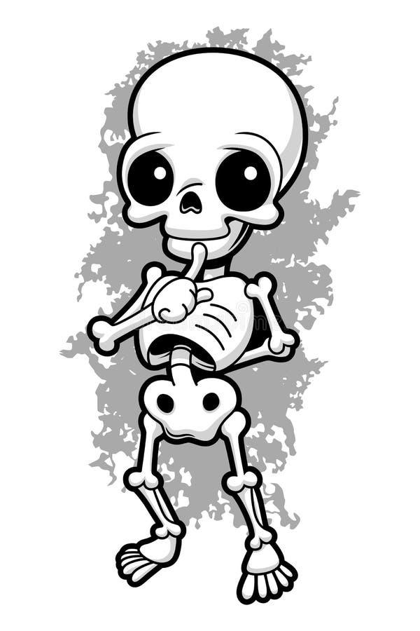Милый скелет иллюстрация штока