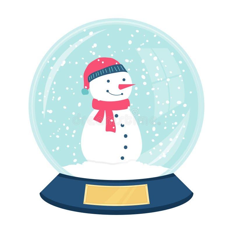 Милый снежный ком вектора стоковое изображение rf