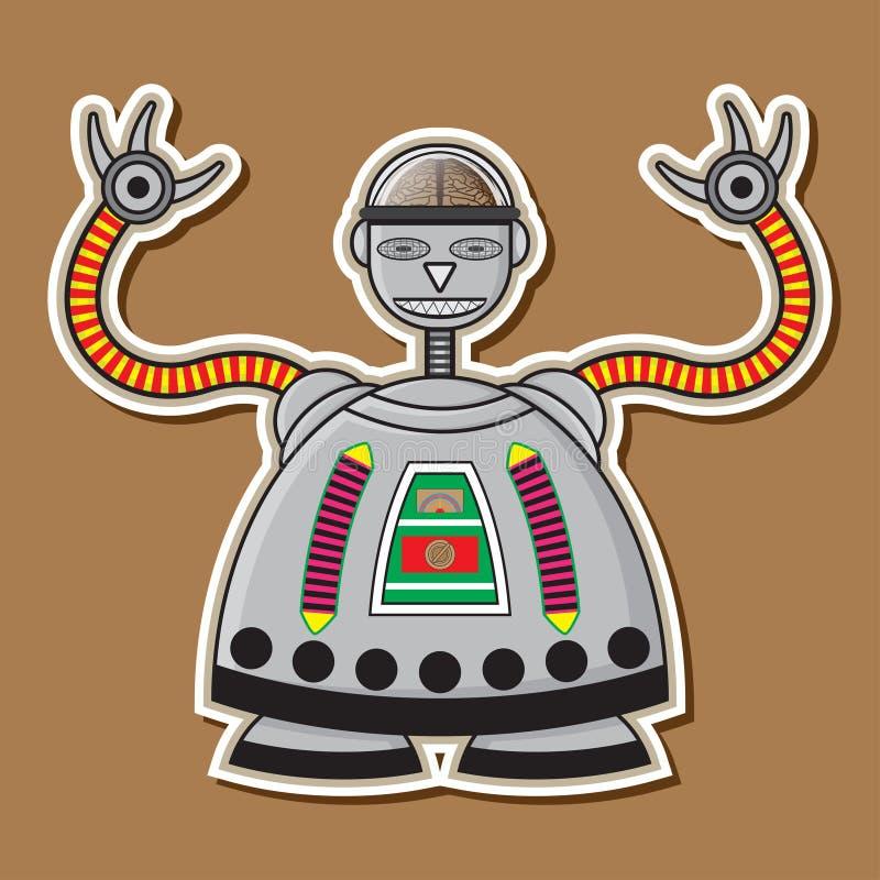 Милый стальной дизайн вектора робота стоковые фото