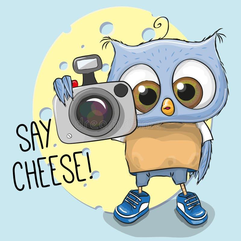 Сова с фотоаппаратом картинка