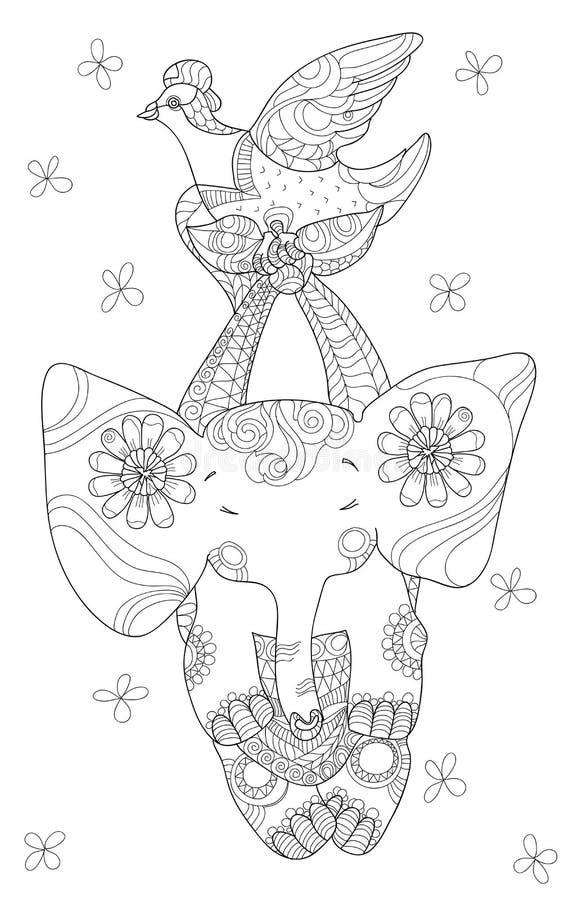 милый слон немногая иллюстрация штока