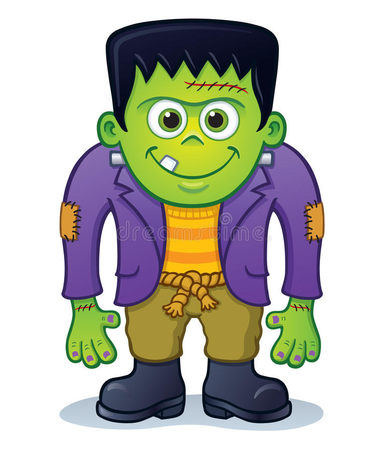 Милый характер изверга Frankenstein стоковые фотографии rf