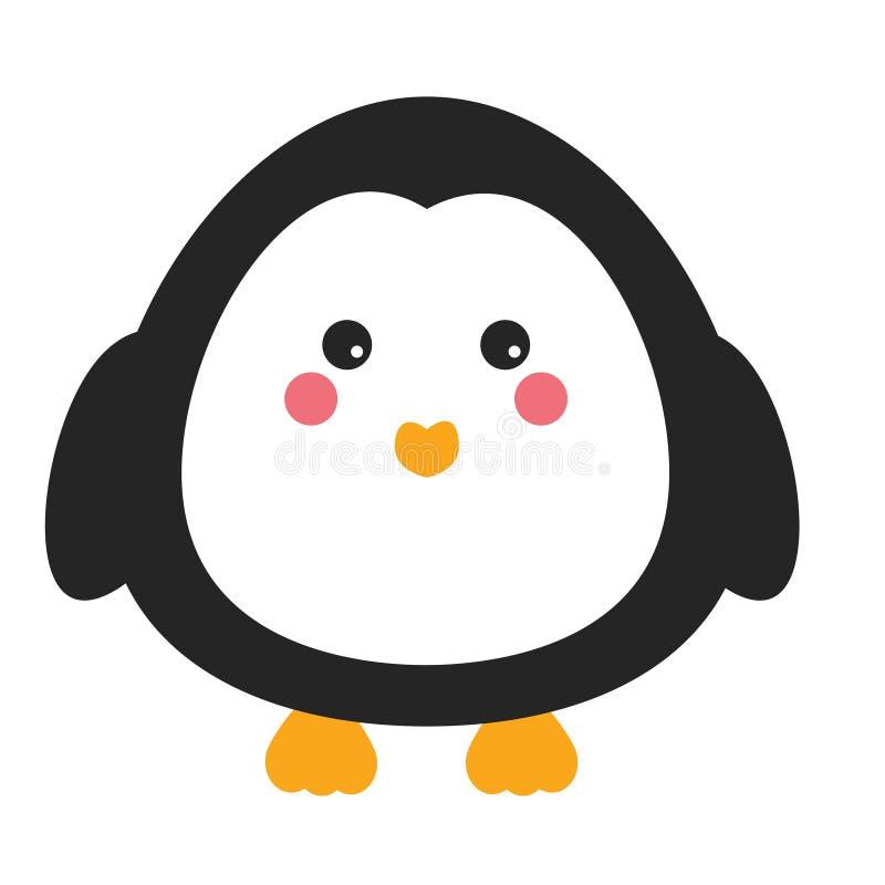 Милый характер пингвина kawaii Дети вводят в моду, vector иллюстрацию иллюстрация вектора