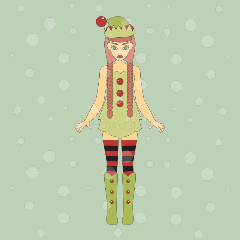 милый хелпер santa бесплатная иллюстрация