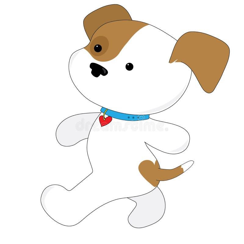 Милый ходок щенка бесплатная иллюстрация