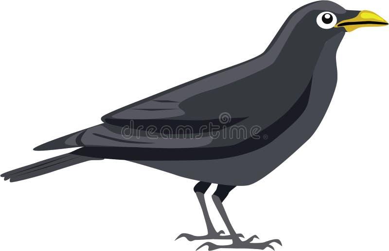 Милый черный вектор вороны стоковые фотографии rf