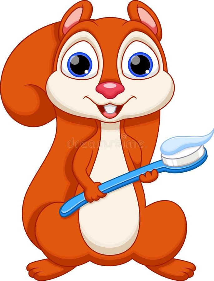 натуральные, картинка белка чистит зубы так мона