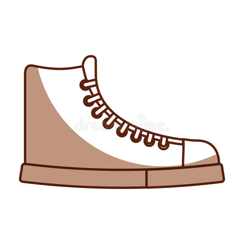 Милый шарж ботинка тени иллюстрация штока