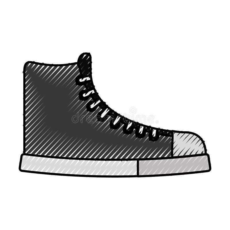 Милый шарж ботинка scribble иллюстрация штока