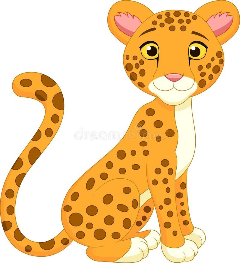 Милый шарж гепарда иллюстрация вектора