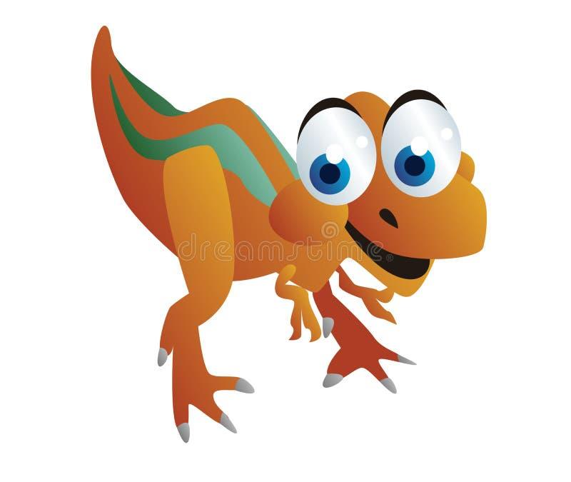 Милый шарж динозавров иллюстрация вектора