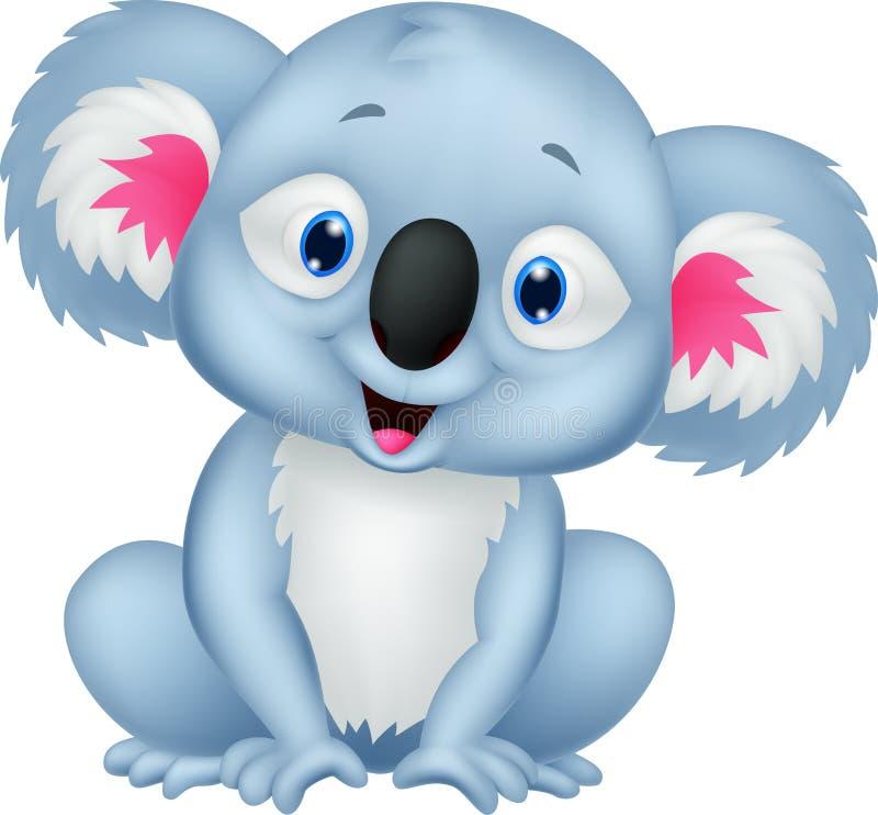 Милый шарж коалы бесплатная иллюстрация